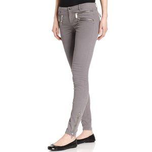 Michael Kors Zip Pocket Skinny Jeans Gunmetal Wash